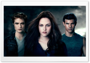 Edward, Bella and Jacob HD Wide Wallpaper for Widescreen