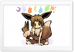 Eevee Pokemon HD Wide Wallpaper for Widescreen