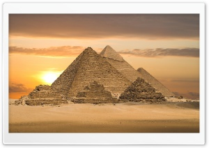 Egyptian Pyramids - Cairo, Egypt, Africa HD Wide Wallpaper for Widescreen