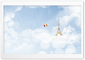 Eiffel Dreams HD Wide Wallpaper for Widescreen