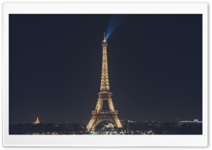 Eiffel Tower at Night, Paris, France HD Wide Wallpaper for Widescreen