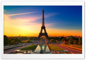 Eiffel Tower at Sunrise HD Wide Wallpaper for Widescreen