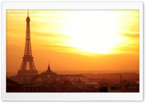 Eiffel Tower At Sunset HD Wide Wallpaper for Widescreen