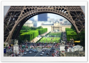 Eiffel Tower At The Bottom HD Wide Wallpaper for 4K UHD Widescreen desktop & smartphone