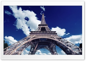 Eiffel Tower Bottom Up View HD Wide Wallpaper for Widescreen
