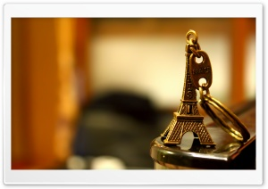 Eiffel Tower Keychain HD Wide Wallpaper for Widescreen