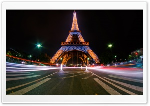 Eiffel Tower Light Show HD Wide Wallpaper for Widescreen