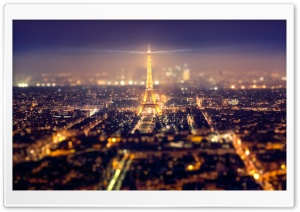 Eiffel Tower Tilt-Shift HD Wide Wallpaper for 4K UHD Widescreen desktop & smartphone