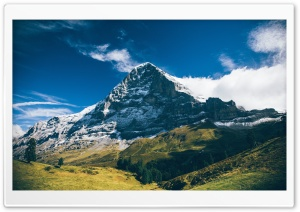 Eiger Mountain, Grindelwald, Switzerland Landscape HD Wide Wallpaper for 4K UHD Widescreen desktop & smartphone