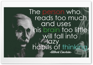 Einstein Quote HD Wide Wallpaper for 4K UHD Widescreen desktop & smartphone