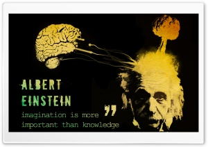 Einstein Saying HD Wide Wallpaper for Widescreen