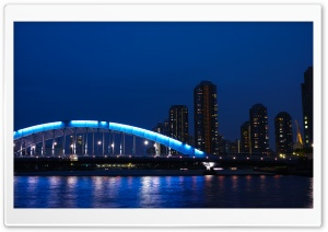 Eitai Bashi Bridge, Japan HD Wide Wallpaper for Widescreen