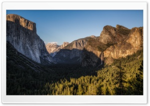 El Capitan, Half Dome, and Bridalveil Fall, from Tunnel View HD Wide Wallpaper for Widescreen