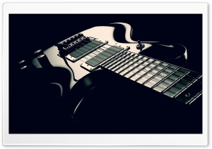 Electric Guitar Black and White HD Wide Wallpaper for 4K UHD Widescreen desktop & smartphone