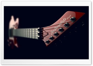 Electric Guitar Neck Design Ultra HD Wallpaper for 4K UHD Widescreen desktop, tablet & smartphone