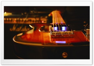 Electric Guitar Recording Studio HD Wide Wallpaper for 4K UHD Widescreen desktop & smartphone