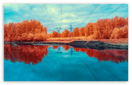 Electricity Infrared Photography Ultra Hd Desktop Background