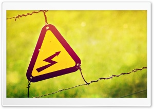 Electricity Warning Sign HD Wide Wallpaper for 4K UHD Widescreen desktop & smartphone