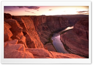 elementary OS Horseshoe Bend Sunset HD Wide Wallpaper for Widescreen