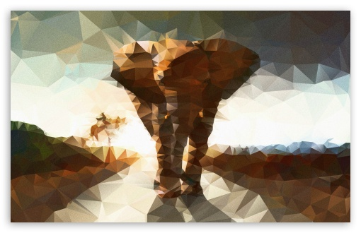 Elephant polygon illustration HD wallpaper for Standard 4:3 5:4 Fullscreen UXGA XGA SVGA QSXGA SXGA ; Wide 16:10 5:3 Widescreen WHXGA WQXGA WUXGA WXGA WGA ; HD 16:9 High Definition WQHD QWXGA 1080p 900p 720p QHD nHD ; Other 3:2 DVGA HVGA HQVGA devices ( Apple PowerBook G4 iPhone 4 3G 3GS iPod Touch ) ; Mobile VGA WVGA iPhone iPad PSP Phone - VGA QVGA Smartphone ( PocketPC GPS iPod Zune BlackBerry HTC Samsung LG Nokia Eten Asus ) WVGA WQVGA Smartphone ( HTC Samsung Sony Ericsson LG Vertu MIO ) HVGA Smartphone ( Apple iPhone iPod BlackBerry HTC Samsung Nokia ) Sony PSP Zune HD Zen ; Tablet 2 ;