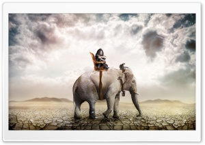 Elephant Ride HD Wide Wallpaper for Widescreen