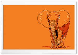 Elephant Vector Art HD Wide Wallpaper for Widescreen