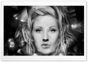 Ellie Goulding Crying HD Wide Wallpaper for Widescreen