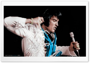 Elvis Presley Fringe Jumpsuit 1970 HD Wide Wallpaper for 4K UHD Widescreen desktop & smartphone