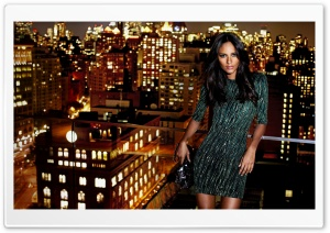 Emanuela De Paula On A Roof HD Wide Wallpaper for Widescreen