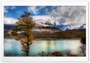 Emerald Lake In The Andes HD Wide Wallpaper for 4K UHD Widescreen desktop & smartphone