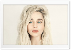 Emilia Clarke Blonde HD Wide Wallpaper for Widescreen