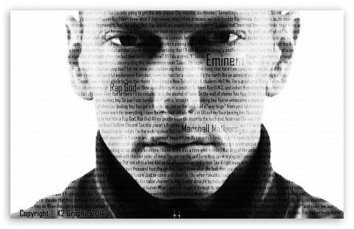 Eminem - Rap God HD wallpaper for Wide 16:10 Widescreen WHXGA WQXGA WUXGA WXGA ; Mobile 16:9 - WQHD QWXGA 1080p 900p 720p QHD nHD ;