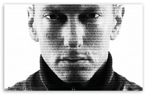 Eminem - Rap God HD wallpaper for Wide 16:10 Widescreen WHXGA WQXGA WUXGA WXGA ; Mobile PSP - Sony PSP Zune HD Zen ;