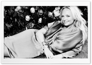 Emma Bunton Black and White HD Wide Wallpaper for Widescreen