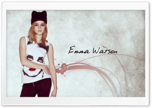 Emma Watson Cat Eye HD Wide Wallpaper for Widescreen