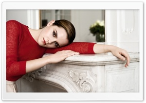 Emma Watson In Red HD Wide Wallpaper for Widescreen