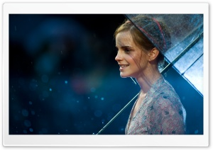 Emma Watson In the Rain HD Wide Wallpaper for Widescreen