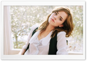 Emma Watson On A Chair HD Wide Wallpaper for 4K UHD Widescreen desktop & smartphone