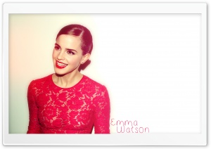 Emma Watson Red Dress (2012) HD Wide Wallpaper for Widescreen