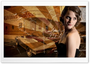 Emma Watson Retro HD Wide Wallpaper for Widescreen