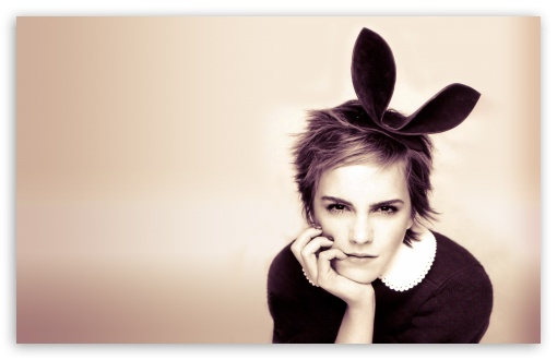 Emma Watson With Bunny Ears HD wallpaper for Wide 16:10 5:3 Widescreen WHXGA WQXGA WUXGA WXGA WGA ; HD 16:9 High Definition WQHD QWXGA 1080p 900p 720p QHD nHD ; Standard 4:3 5:4 3:2 Fullscreen UXGA XGA SVGA QSXGA SXGA DVGA HVGA HQVGA devices ( Apple PowerBook G4 iPhone 4 3G 3GS iPod Touch ) ; Tablet 1:1 ; iPad 1/2/Mini ; Mobile 4:3 5:3 3:2 16:9 5:4 - UXGA XGA SVGA WGA DVGA HVGA HQVGA devices ( Apple PowerBook G4 iPhone 4 3G 3GS iPod Touch ) WQHD QWXGA 1080p 900p 720p QHD nHD QSXGA SXGA ;