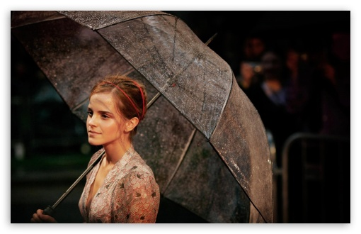 Emma Watson With Umbrella HD wallpaper for Wide 16:10 5:3 Widescreen WHXGA WQXGA WUXGA WXGA WGA ; HD 16:9 High Definition WQHD QWXGA 1080p 900p 720p QHD nHD ; Standard 4:3 5:4 3:2 Fullscreen UXGA XGA SVGA QSXGA SXGA DVGA HVGA HQVGA devices ( Apple PowerBook G4 iPhone 4 3G 3GS iPod Touch ) ; Tablet 1:1 ; iPad 1/2/Mini ; Mobile 4:3 5:3 3:2 16:9 5:4 - UXGA XGA SVGA WGA DVGA HVGA HQVGA devices ( Apple PowerBook G4 iPhone 4 3G 3GS iPod Touch ) WQHD QWXGA 1080p 900p 720p QHD nHD QSXGA SXGA ;