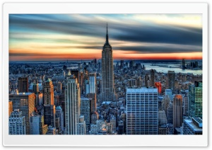 Empire State Building HDR HD Wide Wallpaper for Widescreen