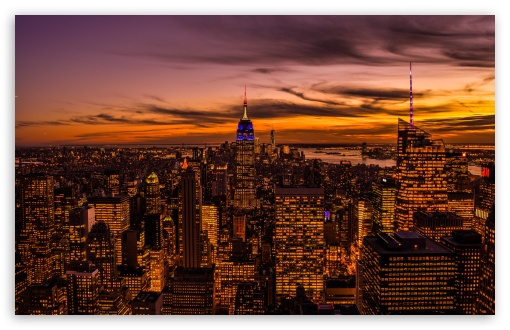 Empire State Building, New York City HD Desktop Wallpaper