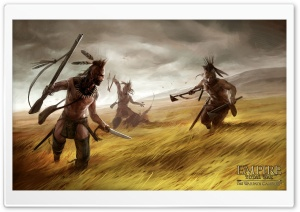 Empire Total War The Warpath Campaign Artwork Attacking Indians HD Wide Wallpaper for Widescreen
