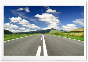 Empty Road HD Wide Wallpaper for Widescreen