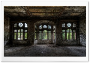 Empty Room In Old Building HD Wide Wallpaper for Widescreen