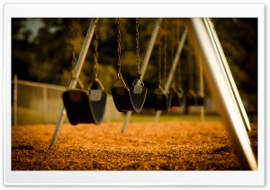 Empty Swings HD Wide Wallpaper for Widescreen