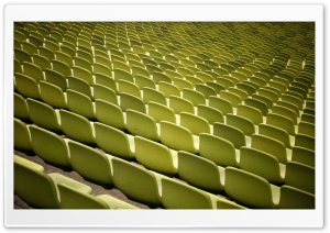 Empty Yellow Stadium Seats, Vintage HD Wide Wallpaper for Widescreen