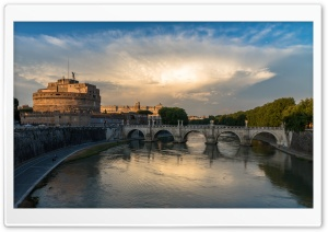 Engelsburg, Castel Sant Angelo HD Wide Wallpaper for 4K UHD Widescreen desktop & smartphone
